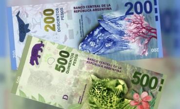 El Gobierno emitirá billetes de 200 y 500 pesos