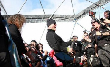 Metallica dio un show histórico en el hielo de la Antártida