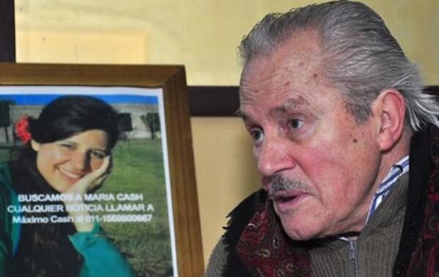 El padre de María Cash chocó y murió buscando a su hija
