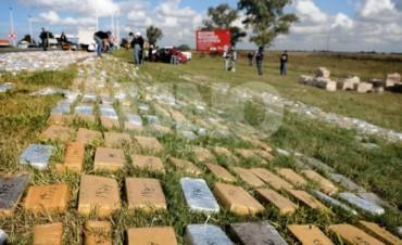 Golpe a los narcos: incautan más de 3.000 kilos de drogas
