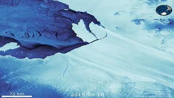 Un glaciar de casi el tamaño de Manhattan en la Antártida pone en alerta por nuevas grietas