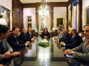 Cristina Kirchner recibió a los gobernadores de las provincias petroleras