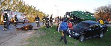 El Trébol: accidente en Ruta 13 y Río Negro