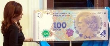Reemplazarán los billetes de $100 de Roca por nuevos con la cara de Evita