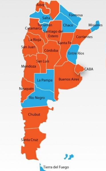 Así quedó el mapa político en Argentina